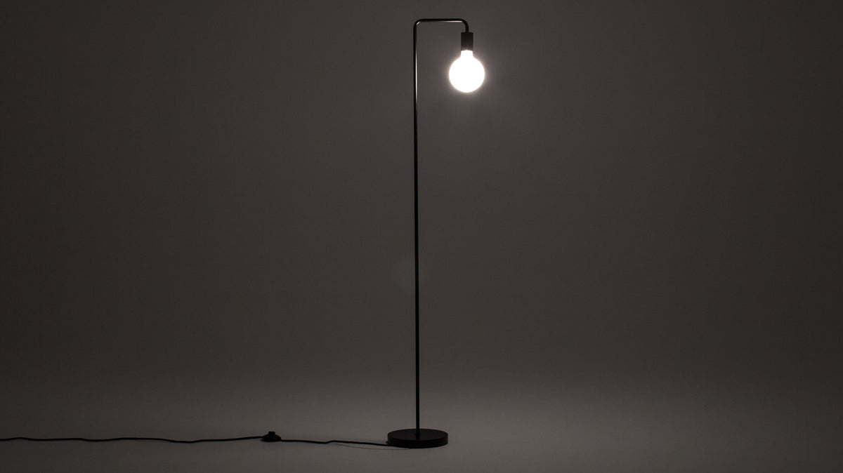metro floor lamp (black)