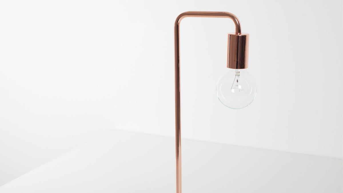 metro table lamp (copper)