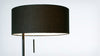 micah floor lamp - black