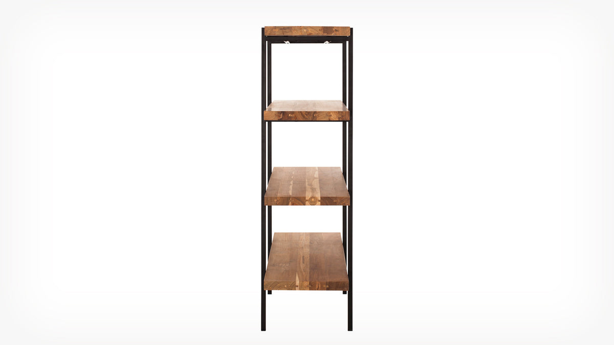 reclaimed teak shelving unit