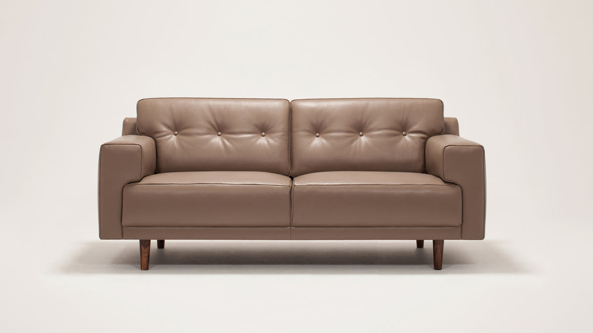 remi loveseat (button) - leather