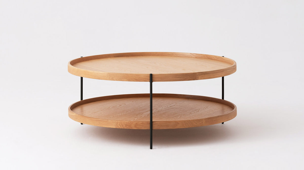 sage round coffee table