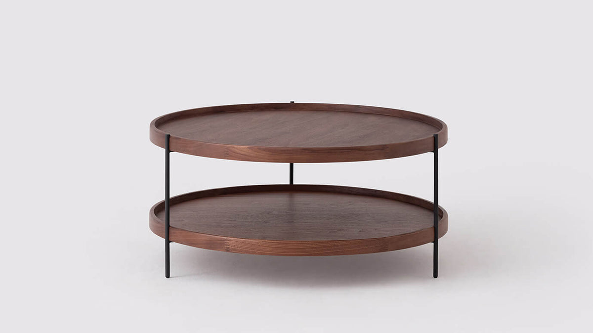 sage small round coffee table