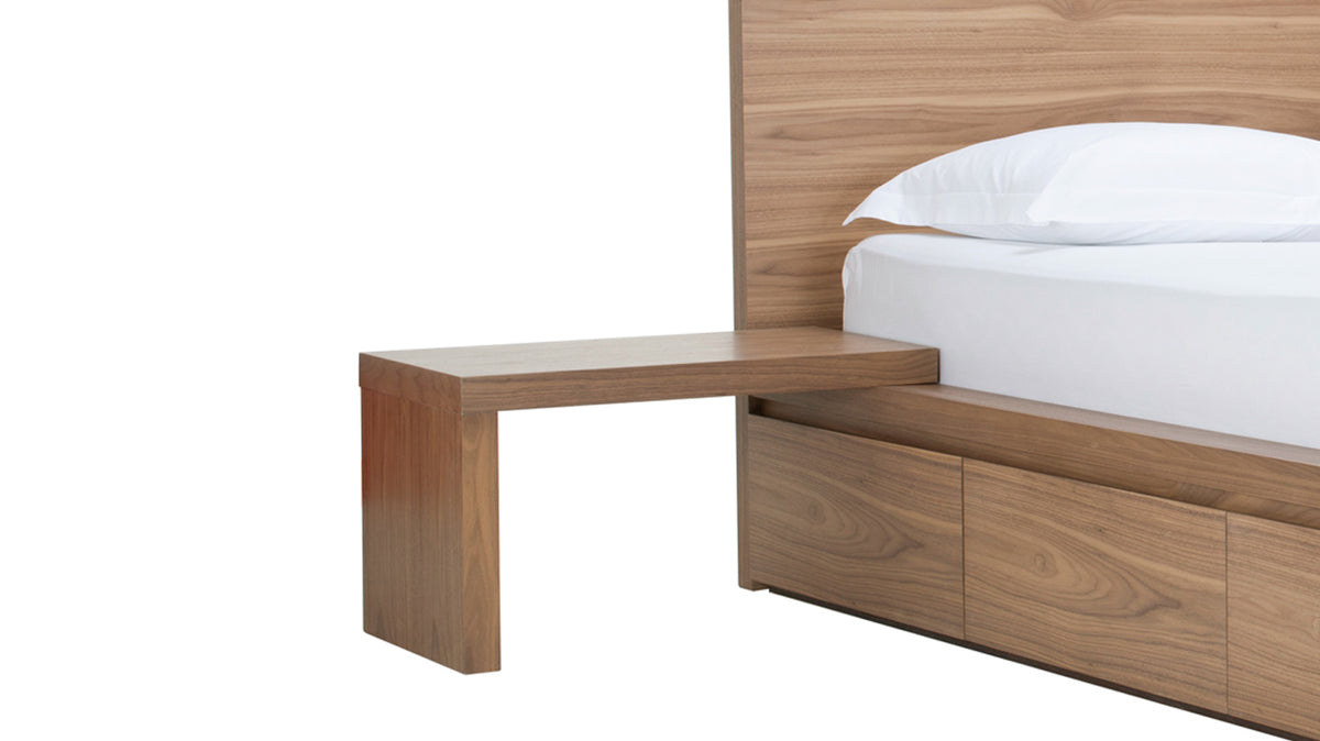 L nightstand (walnut)