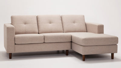 solo 2-piece sectional - fabric