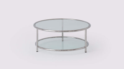 tubular round coffee table