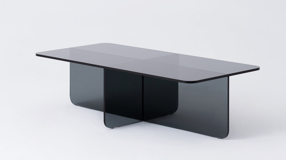 verre rectangular coffee table