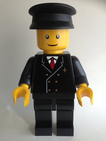 "Lego Man Auto Pilot (Huge 19"" Inch Tall Black Mini Figure)"