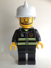 "Lego Man Fireman (Huge 19"" Inch Tall Black Mini Figure)"