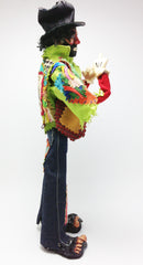 "Sad Clown Smoking Something Doll Figure 14"" Tall Vintage and Uber Rare"