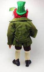 "Irish Leprechaun Redhead with Red Beard Smoking Magic Doll Figure 15"" Tall Vintage and Weird"