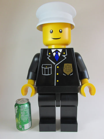 "Lego Man POPO (Huge 19"" Inch Tall Policeman Mini Figure)"