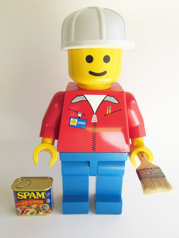 "Lego Man PAINTER (Huge 19"" Inch Tall Mini Figure)"