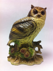 Sculpture Owl Hand Painted Made in Japan