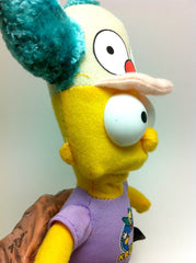 Weird Bart Simpson with Krusty the Clown Hat and Shirt Plush