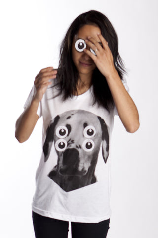 Four Eyes Dalmatian Dog Womens Shirt