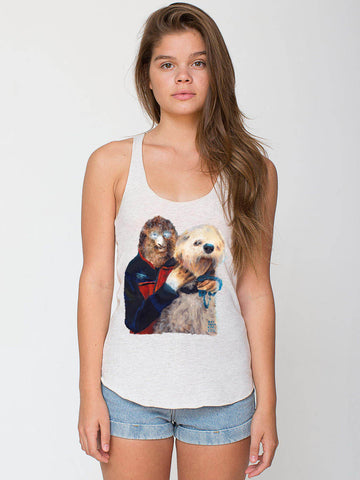 Wolfman and His Dog Women's Slack Cut Racerback Tank
