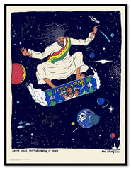 Rasta Jesus Skateboarding in Space