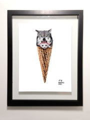 "The Strong Will Survive Wolf Cone 8.5 x 11"" Print"