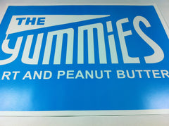 "The Yummies 18 x 24"" Limited Edition Poster (White Logo on Blue)"