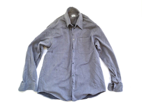 Armani Collezioni Long Sleeved Shirt Grey Size Mens Small