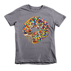 Sprinkled Donut Short Sleeve Kids T-Shirt
