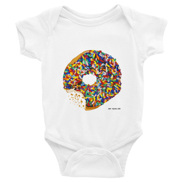 Sprinkled Donut Baby Short Sleeve One-Piece