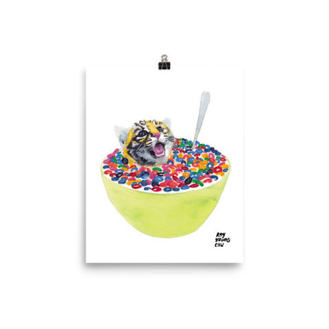 Cereal Killer Tiger Cub Prints