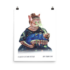 Newborn Cat and Mother Prints