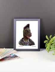 Dino Step Up Fade Cut Framed Print
