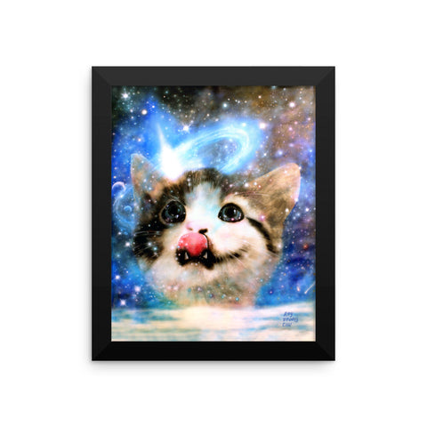Galactic Cat Framed Print
