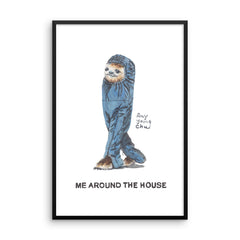 Me Around the House Framed Print