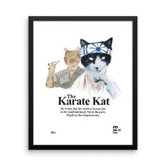 The Karate Kat Framed Print