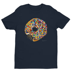 Sprinkled Donuts Mens on Various Colored Shirt