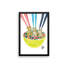 Cereal Killers Triple Trouble Framed Print
