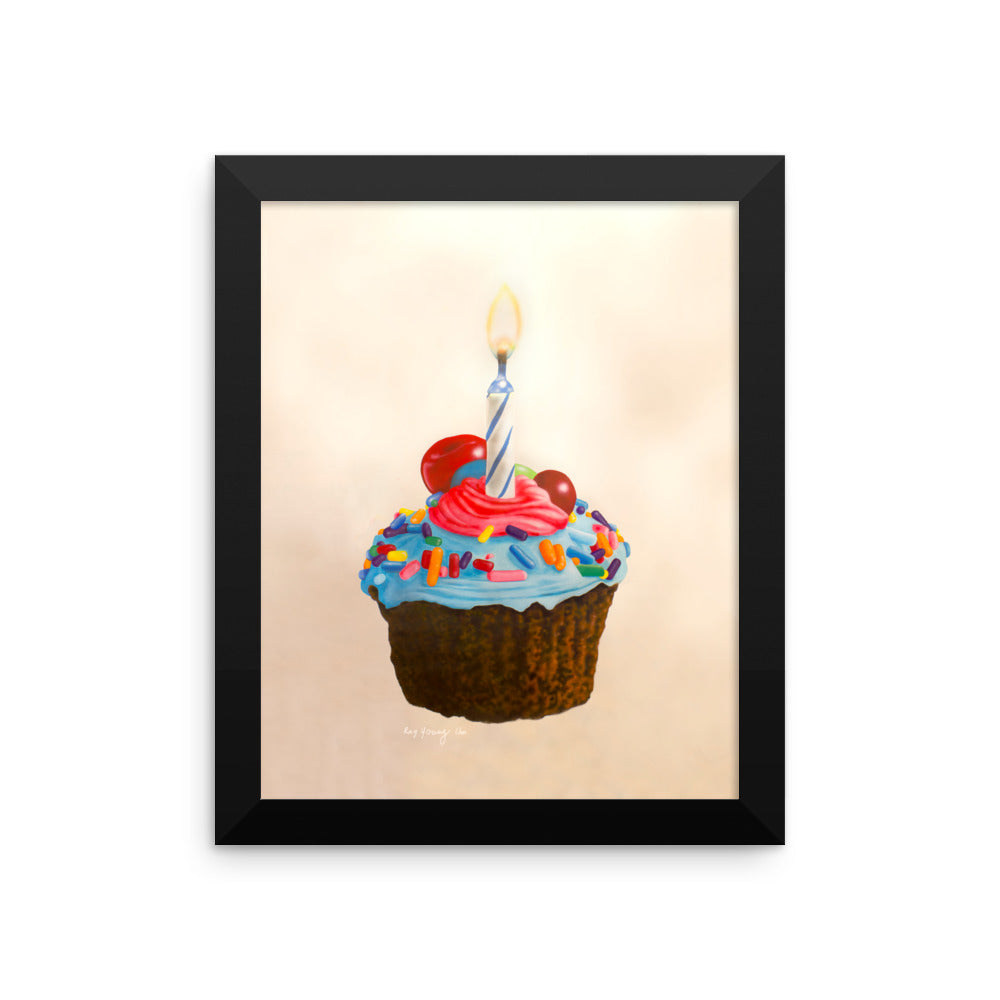 Sprinkled Cupcake Framed Print