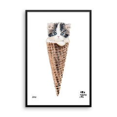 Kitten Cone Framed Print