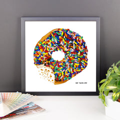 Sprinkled Donut Framed Print