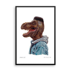 Dino Diamond Cut Framed Print