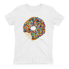 Shirt Sprinkled Donut (Various Colors) Womens