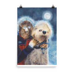 Wolf Man and his Dog Print