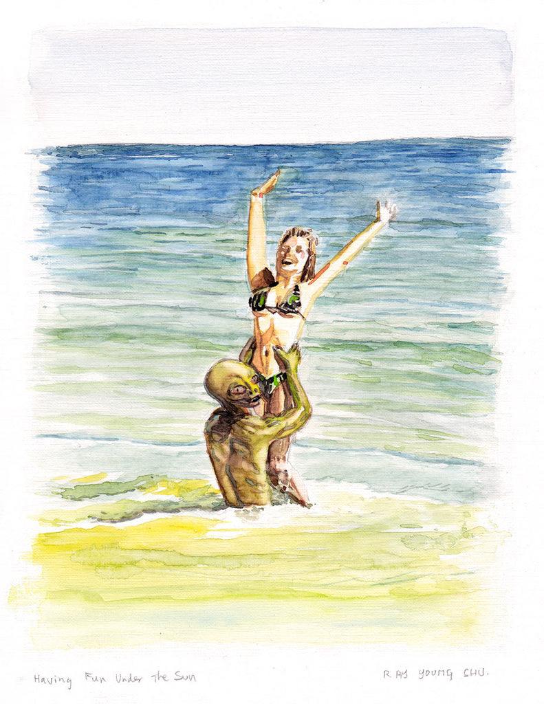 "Having Fun Under the Sun 8.5 x 11"" Print"