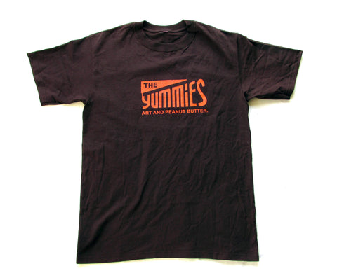 The Yummies Orange Logo on Brown Shirt Mens