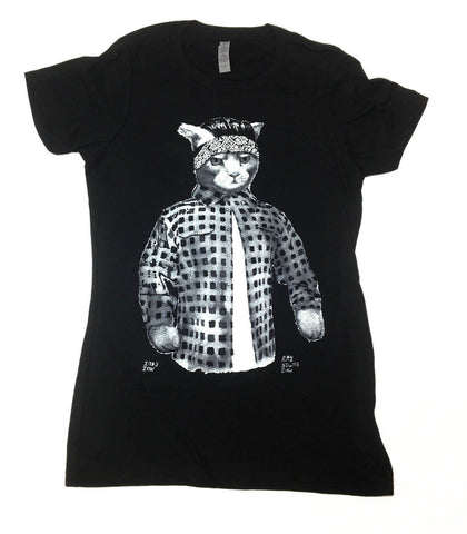 Gato Vato Womens T-Shirt Black