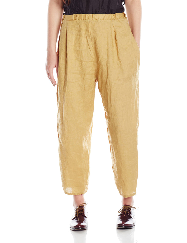 Artists and Revolutionaries Clam Digger Pant Women Eco Fashion Sustainable Made in Hudson Valley New York One Size Bias Cut Linen