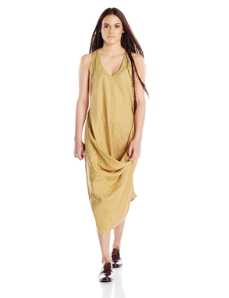 Artists and Revolutionaries Diana Dress Women Eco Fashion Sustainable Made in Hudson Valley New York One Size Bias Cut Linen