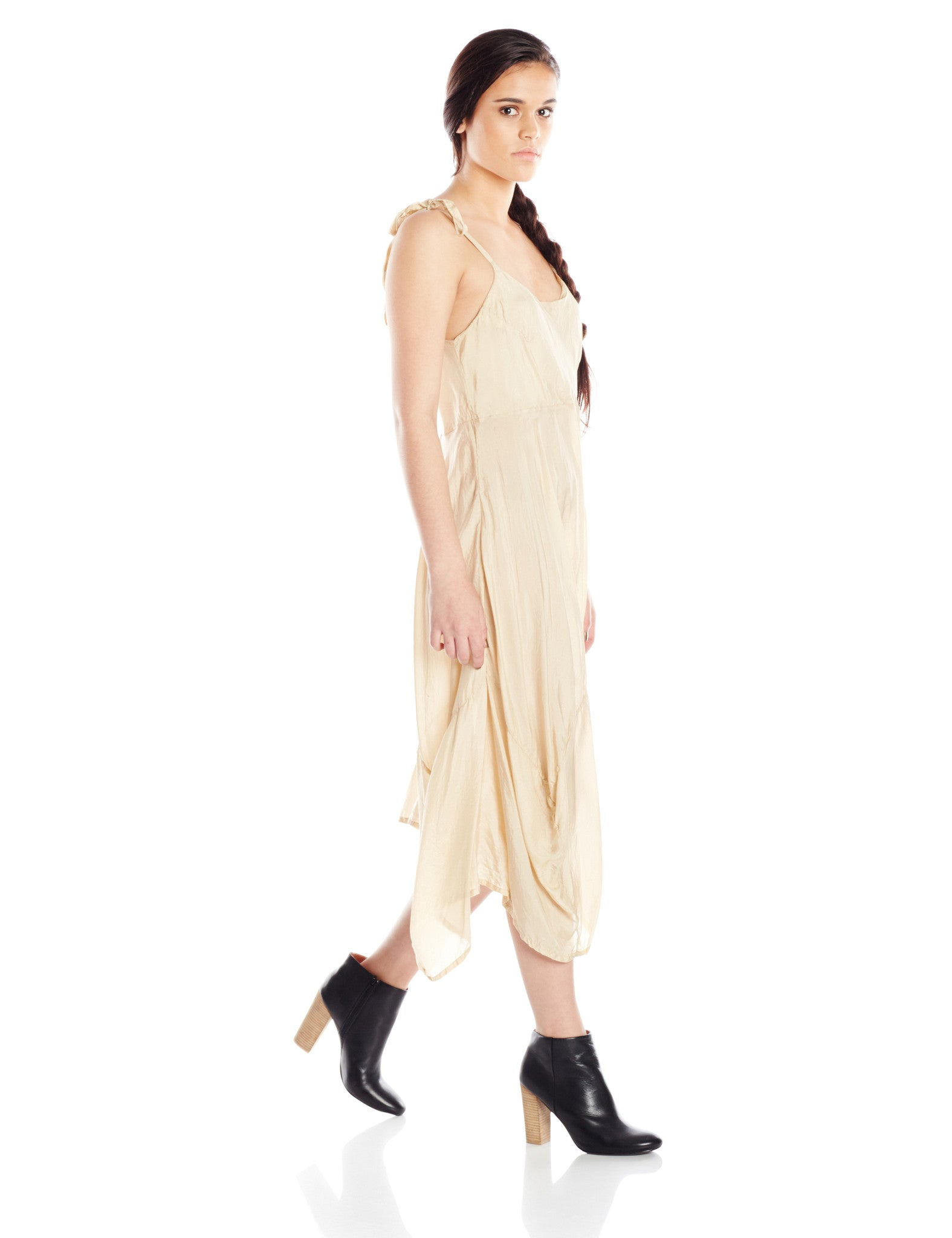 Artists and Revolutionaries Penelope Dress Women Eco Fashion Sustainable Made in Hudson Valley New York One Size Bias Cut Silk
