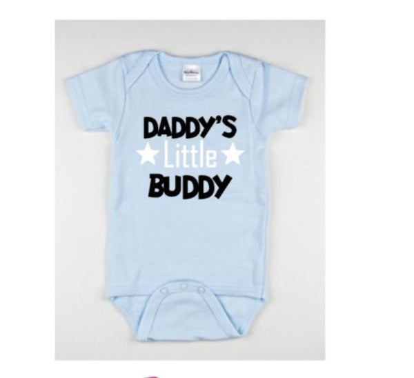 Daddy's Little Buddy Baby Bodysuit - customgiftstore.com