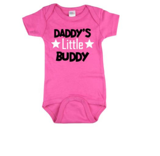 Daddy's Little Buddy Baby Bodysuit | Baby Clothing | Daddy's Little Buddy Bodysuit | Baby Shower | Baby One piece Baby Gift | Baby Clothes - customgiftstore.com