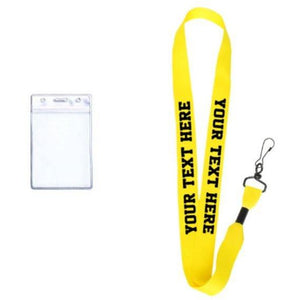 Yellow Custom Lanyard - customgiftstore.com